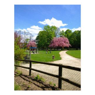 Prunus Park in Velvia Film Personalized Letterhead