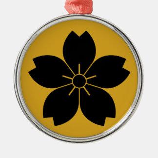 Prunus tomentosa metal ornament