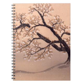 Prunus tomentosa spiral notebook