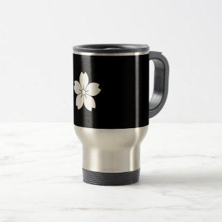 Prunus tomentosa travel mug