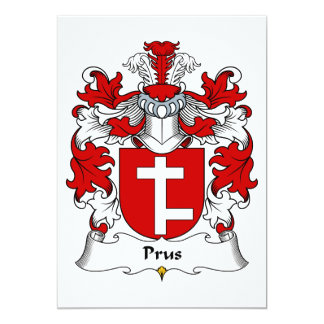 Prus Family Crest Card