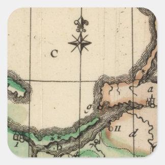 Prusia 2 pegatina cuadrada