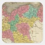 Prusia 2 pegatinas cuadradas