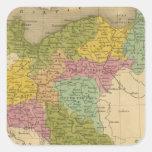 Prusia 4 pegatina cuadrada