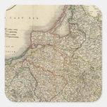 Prusia 8 calcomanía cuadradas