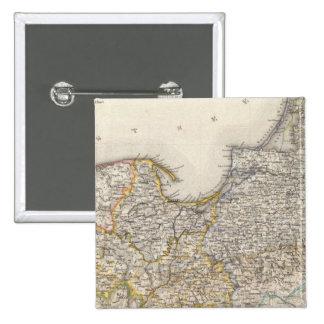 Prusia, Alemania, Polonia 2 Pin Cuadrado
