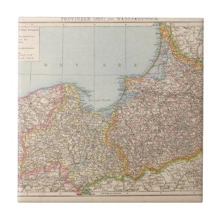 Prusia de Ost u Westpreussen, del este y del oeste Azulejo Cuadrado Pequeño