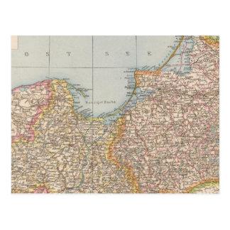 Prusia de Ost u Westpreussen, del este y del oeste Tarjeta Postal