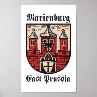 Prusia del este de Marienburg Póster
