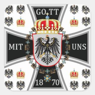 Prusia Pegatina Cuadrada