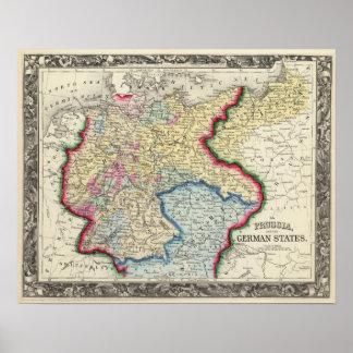 Prusia, y los estados alemanes póster