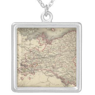 Prussia 5 square pendant necklace