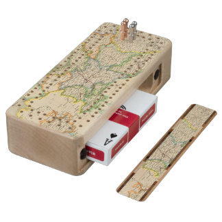 Prussia and Poland Maple Cribbage Board