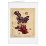 Prussia Caricature Map 1868 Greeting Card