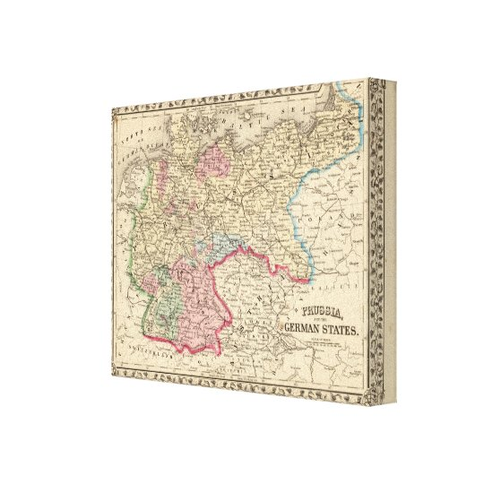 Prussia, German States Map by Mitchell Canvas Print