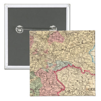 Prussia, German States Map by Mitchell Pinback Button