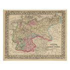 Prussia, German States Map by Mitchell Poster