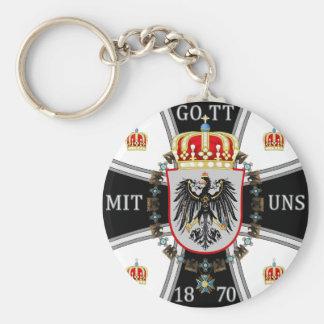 Prussia Basic Round Button Keychain