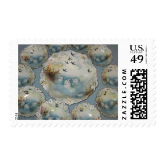 Prussia Swan porcelain Postage stamp