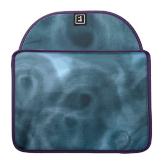 Prussian Blue Watercolor Art MacBook Sleeve
