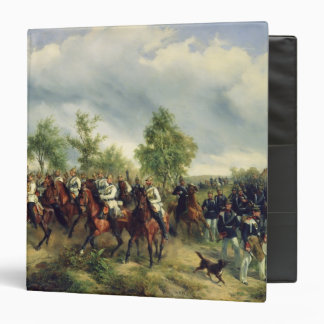 Prussian cavalry on expedition binder