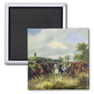 Prussian cavalry on expedition, c.19th magnet