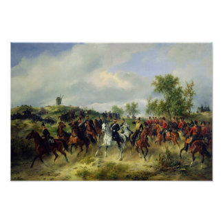 Prussian cavalry on expedition, c.19th poster