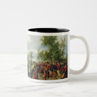 Prussian cavalry on expedition, c.19th Two-Tone coffee mug