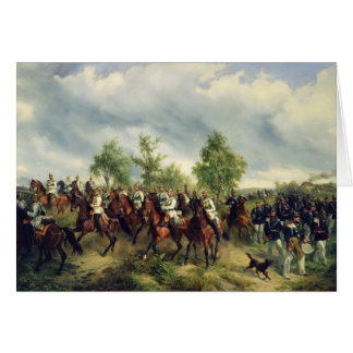 Prussian cavalry on expedition card