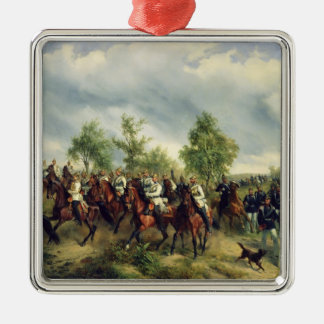 Prussian cavalry on expedition metal ornament