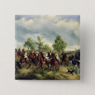 Prussian cavalry on expedition pinback button