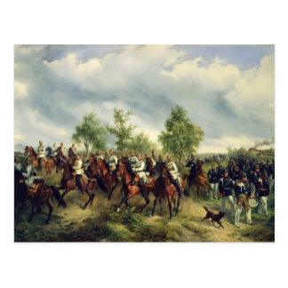 Prussian cavalry on expedition postcard