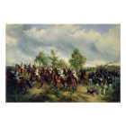 Prussian cavalry on expedition poster