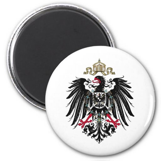 Prussian Eagle 2 Inch Round Magnet