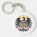 Prussian Eagle Red Black and Gold Basic Round Button Keychain