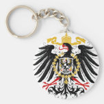 Prussian Eagle Red Black and Gold Keychain
