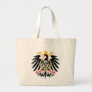 Prussian Eagle Red Black and Gold Large Tote Bag