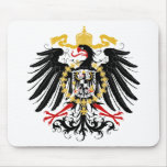 Prussian Eagle Red Black and Gold Mouse Pad