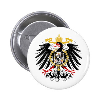 Prussian Eagle Red Black and Gold Pinback Button
