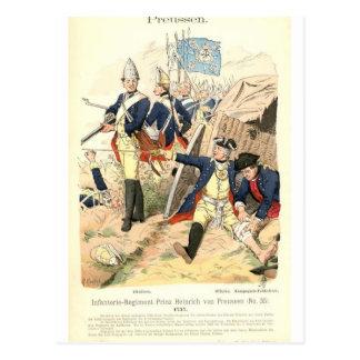 Prussian Fusiliers Postcard