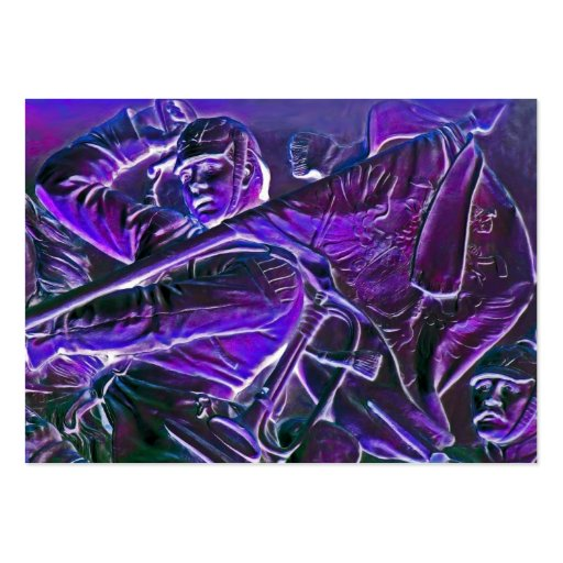 Prussian Horseman, Mounted with Flag in Purple Large Business Cards (Pack Of 100)