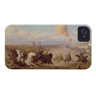 Prussian Hussars firing at a French Observation Ba iPhone 4 Covers