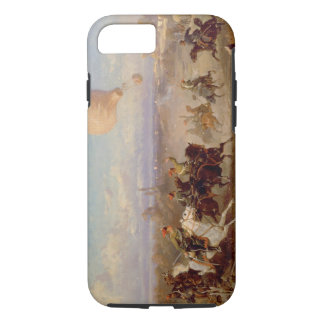 Prussian Hussars firing at a French Observation Ba iPhone 8/7 Case