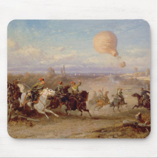 Prussian Hussars firing at a French Observation Ba Mouse Pad