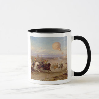 Prussian Hussars firing at a French Observation Ba Mug