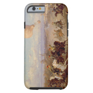 Prussian Hussars firing at a French Observation Ba Tough iPhone 6 Case