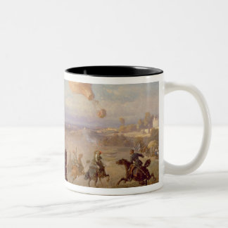 Prussian Hussars firing at a French Observation Ba Two-Tone Coffee Mug
