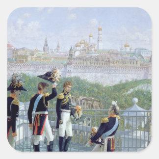 Prussian King Friedrich Wilhelm II Square Sticker