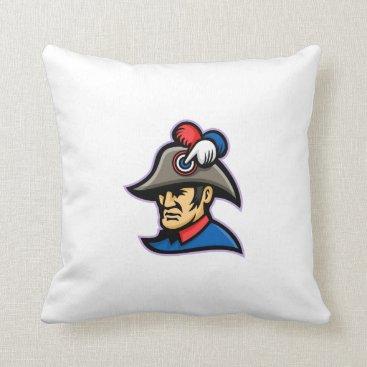 Prussian Officer Mascot Throw Pillow