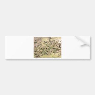 Prussian Soldiers Battle Scene Sepia Tint 4 Bumper Stickers